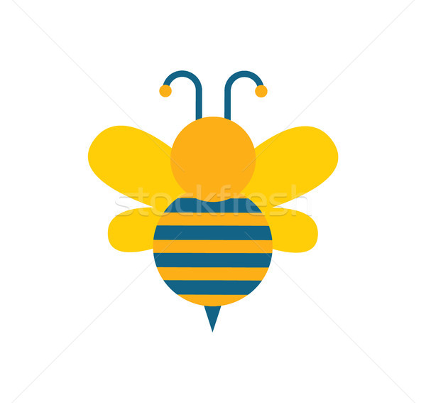 Bee with Wings and Stripes Vector Illustration Stock photo © robuart