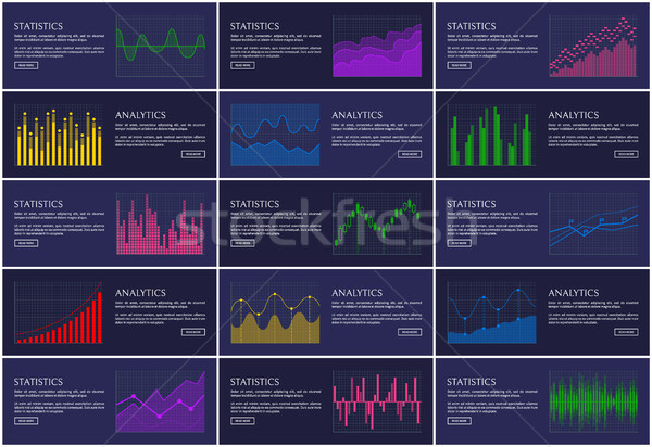Stock photo: Analytics and Statistics Infographics Collection
