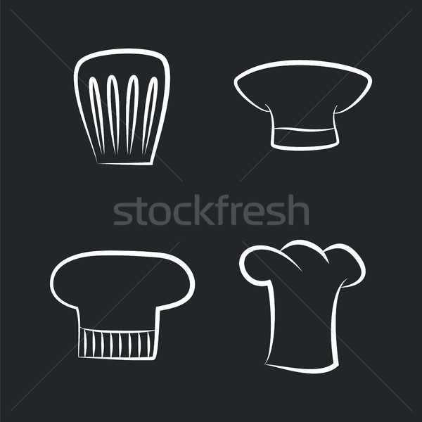 Headwear Items of Chef Staff, Bakery or Cafe Cooker Stock photo © robuart