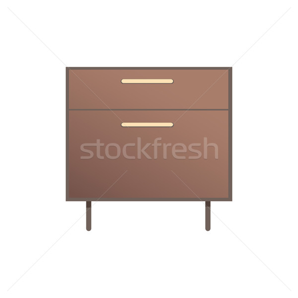 Pretty Bedside Cabinet Isolated on White Backdrop Stock photo © robuart
