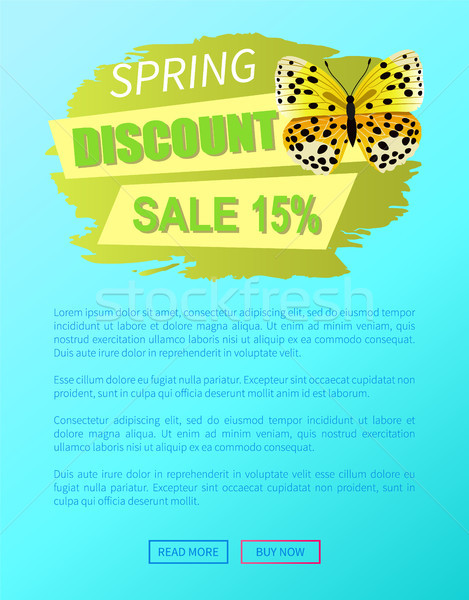 Tavasz árengedmény vásár 15 el pillangó Stock fotó © robuart