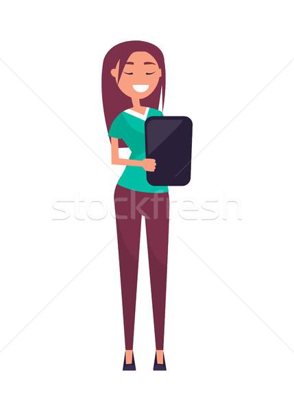 Uitvoerende manager geïsoleerd professionele werkgever tablet Stockfoto © robuart