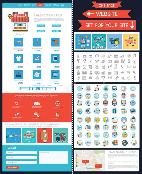 インターネットショッピング スマートフォン 買い 製品 を ショップ ストックフォト © robuart