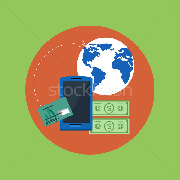 Wireless business payment Stock photo © robuart