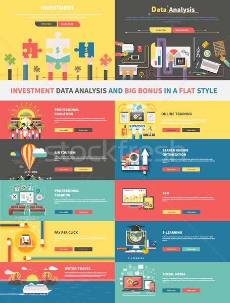 Concept of Investment Analysis Data and Promotion Stock photo © robuart