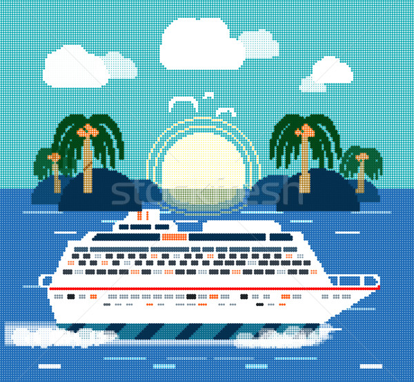 Cruise Ship. Water Tourism Stock photo © robuart