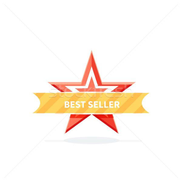 Best Seller Badge Icon Design Flat Stock photo © robuart