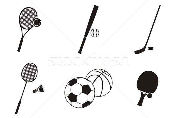 Sport icon zwart wit ontwerp sport logo Stockfoto © robuart