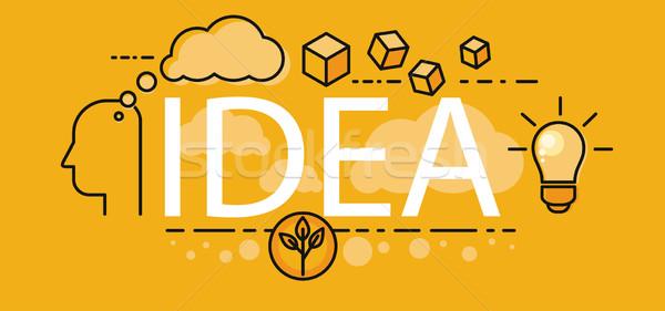 Stockfoto: Idee · business · startup · banner · poster · menselijke