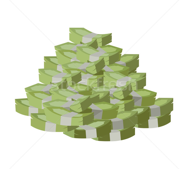 Stack of Money Vector Illustration Flat Design. Stock photo © robuart