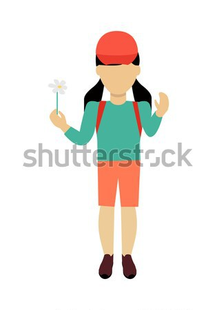 Girl Character Template Vector Illustration. Stock photo © robuart