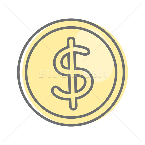 Money Sign Isolated. Dollar Coin. Video Marketing. Stock photo © robuart