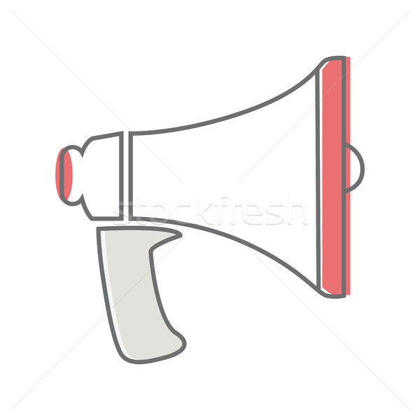 Loud Speaker Isolated on White. Video Marketing. Stock photo © robuart
