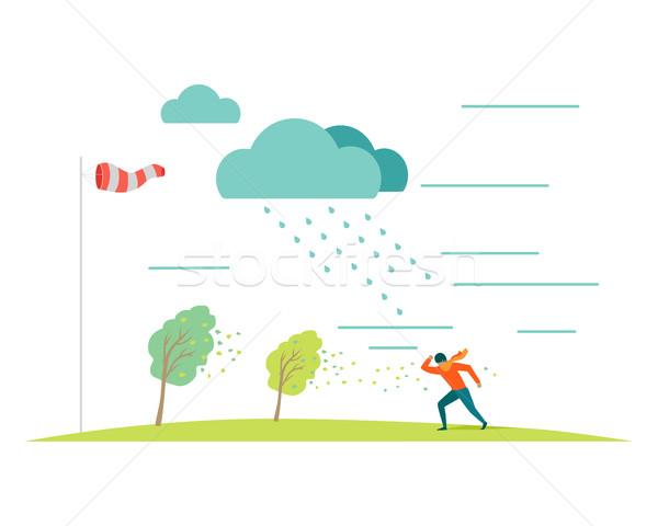 Kötü hava vektör dizayn kötü fırtınalı hava durumu Stok fotoğraf © robuart