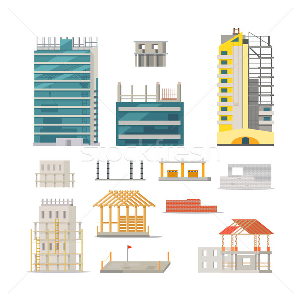Building. Stages of Modern Building Construction Stock photo © robuart
