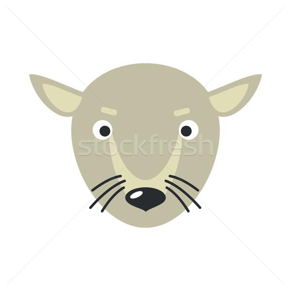 Rat gezicht ontwerp muis vector dier Stockfoto © robuart