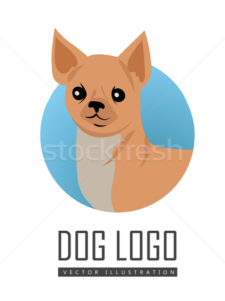 Stock photo: Dog Vector Logo in Flat Style Design