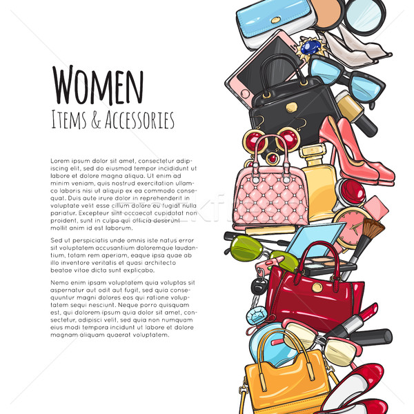 Women Items and Accessories. Colourful Objects Stock photo © robuart