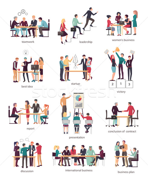 Development Stages of Business Team in Company Stock photo © robuart