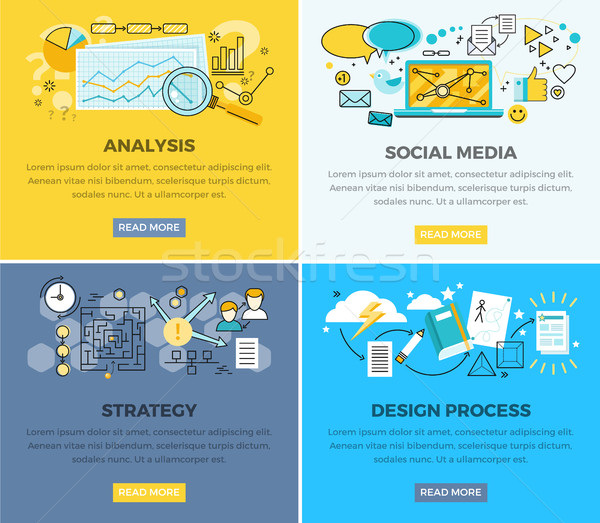 Social Media Analysis and Design Progress Strategy Stock photo © robuart