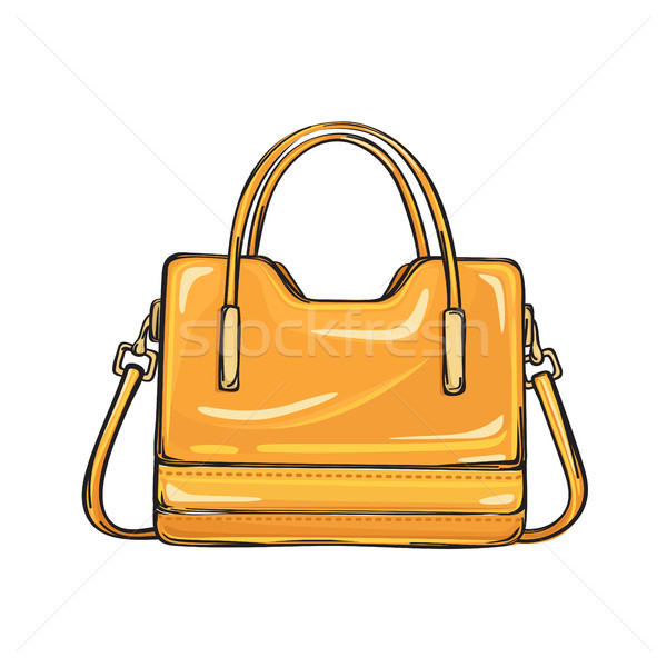 Trendy glänzend orange Tasche isoliert Illustration Stock foto © robuart