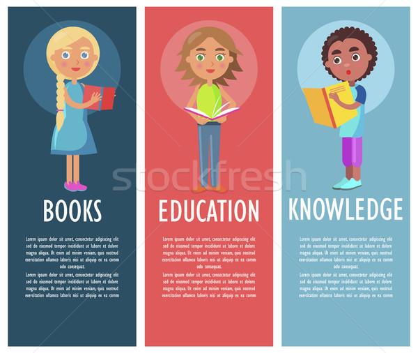 Olvas könyv új tudás oktatás iskolás gyerekek Stock fotó © robuart