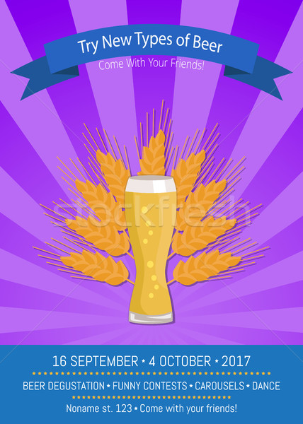Try New Types of Beer Vector Illustration Purple Stock photo © robuart
