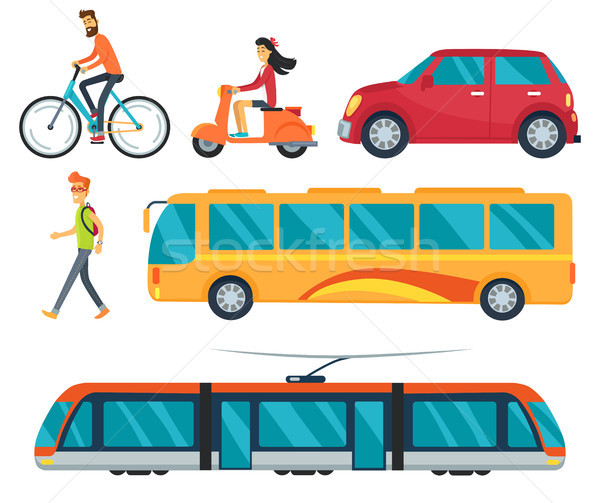 Different Types of Transport Vector Illustration Stock photo © robuart