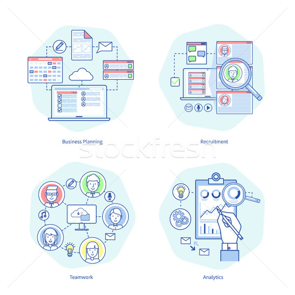 Business Planning Rucruitment Vector Illustration Stock photo © robuart