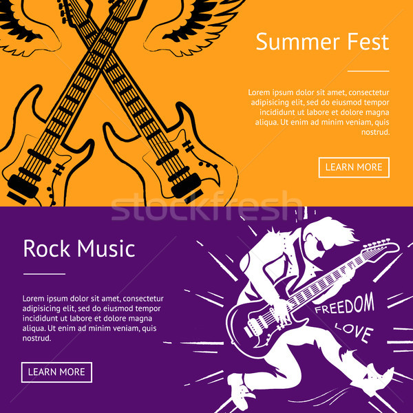 Summer Fest and Rock Music Collection of Banners Stock photo © robuart