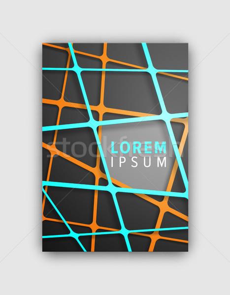 Designed Cover Pattern on Vector Illustration Stock photo © robuart