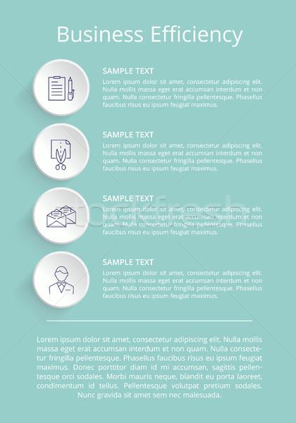Affaires efficacité affiche titre texte opposé Photo stock © robuart