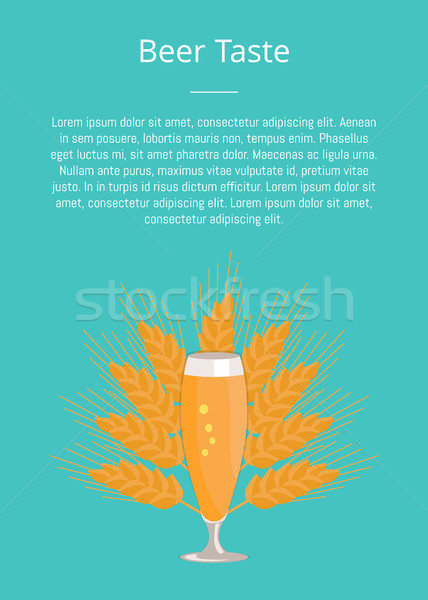 Pilsner Glass of Beer Isolated on White Background Stock photo © robuart