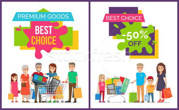Best Choice and Premium Goods Vector Illustration Stock photo © robuart