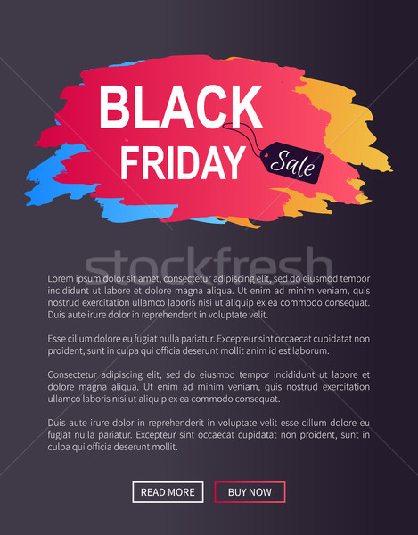 Black friday verkoop prom web poster reclame Stockfoto © robuart