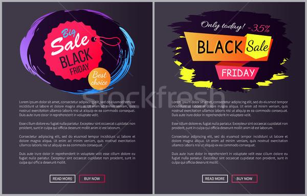 Nagy vásár black friday választás legjobb választás ma Stock fotó © robuart