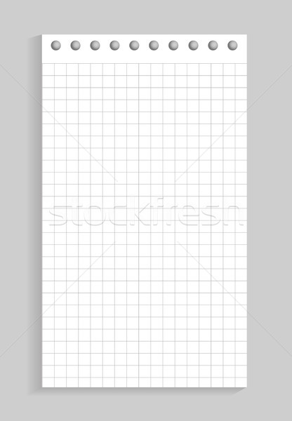 Closeup of Sheet of Paper on Vector Illustration Stock photo © robuart