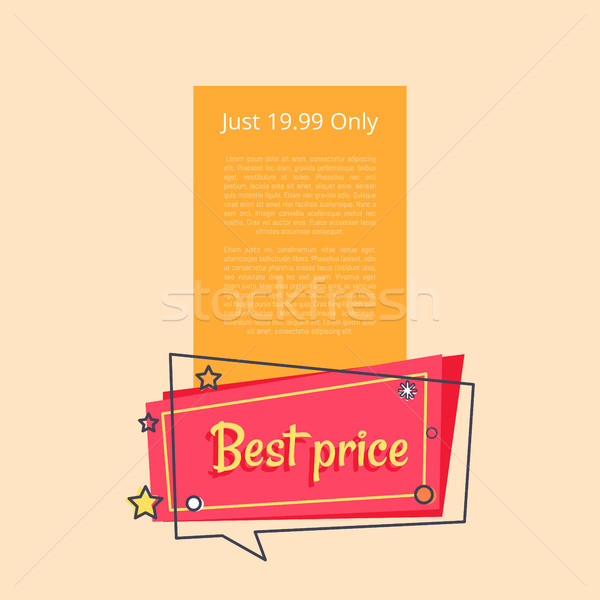 Just 19.99 Only Special Offer Sale Advertisement Stock photo © robuart