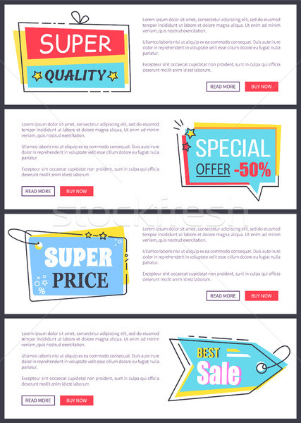 Super Price and Best Sale on Vector Illustration Stock photo © robuart
