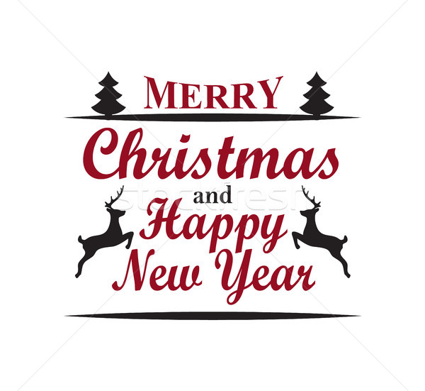 Merry Christmas Happy New Year Vector Illustration Stock photo © robuart