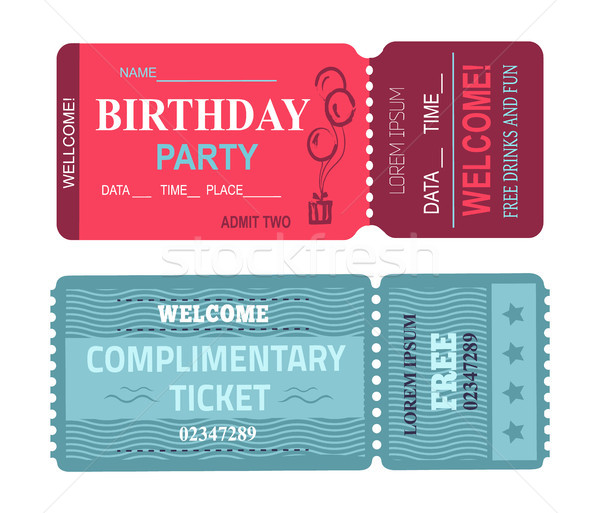 Birthday Party Welcome Set Vector Illustration Stock photo © robuart