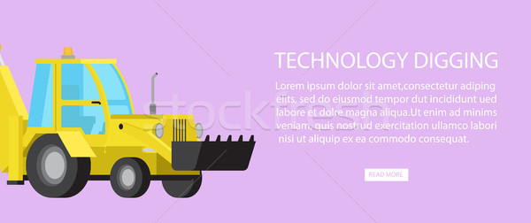 Machinery Industrial Digger Bulldozer Transport Stock photo © robuart
