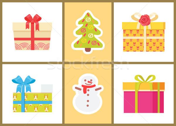 Noël présente symboles icônes lumière Photo stock © robuart