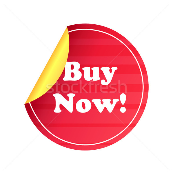 Buy Now Round Promo Label Price Tag Sell Sticker Stock photo © robuart