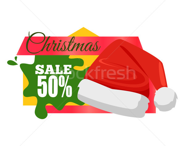 Christmas Sale Calligraphic Inscription Price Off Stock photo © robuart