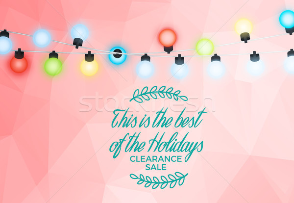 Best of Holidays Clearance Sale with Tree Branches Stock photo © robuart
