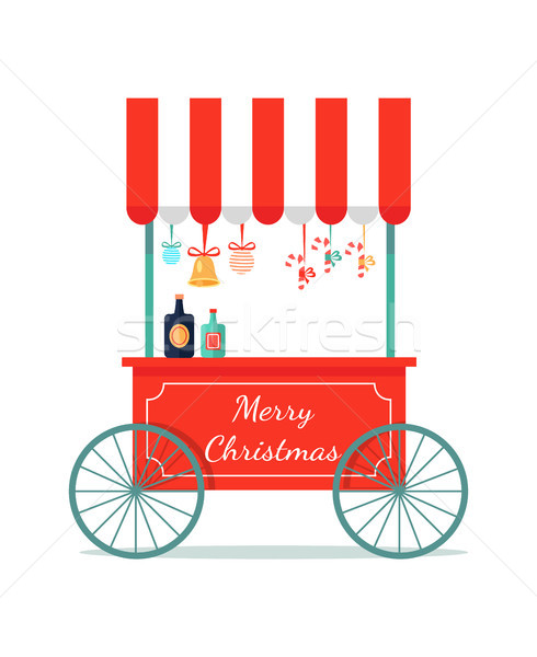 Merry Christmas Congratulation Booth with Sweets Stock photo © robuart