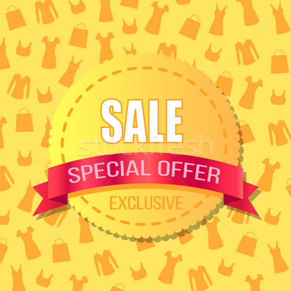 Sale Special Offer, Exclusive Advirtising Banner Stock photo © robuart