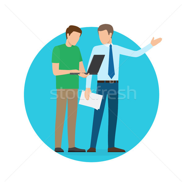 Businessmen Discussing Issues Vector Illustration Stock photo © robuart