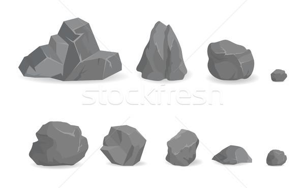 Grigio pietra rocce raccolta grande piccolo Foto d'archivio © robuart